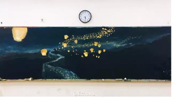 最美手绘黑板报(图)一幅画不同光线呈现不同感觉