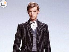 优雅帅气英国绅士斜刘海造型更迷人发型图片