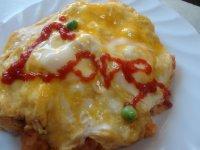 蛋包番茄酱炒饭的家常做法