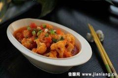 番茄炒菜花