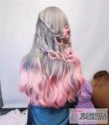 接发染发色板 编发+染发=仙女