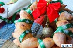 圣诞美食——麦穗花环面包