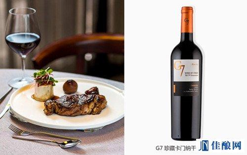 牛排和葡萄酒--浪漫夏日大餐