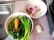 胡萝卜蒜苗回锅肉